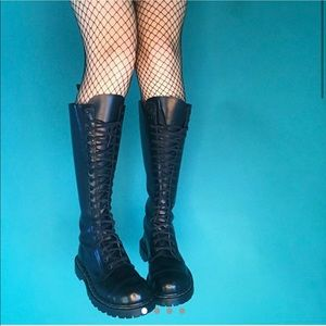 Excellent condition rare knee high combat boots